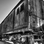 Verlassener Eisenbahnwagon